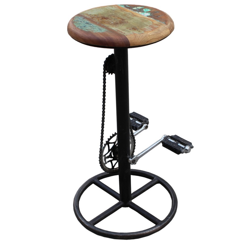 barhocker bike metall altholz sitting center