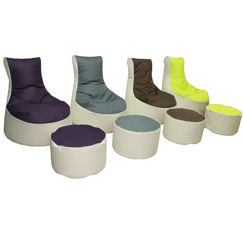 sessel hocker berlin set 4 farben. Black Bedroom Furniture Sets. Home Design Ideas
