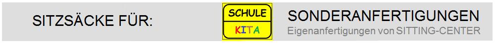 Sitzsäcke für Schulen, KITAs, öffentliche Einrichtungen ...