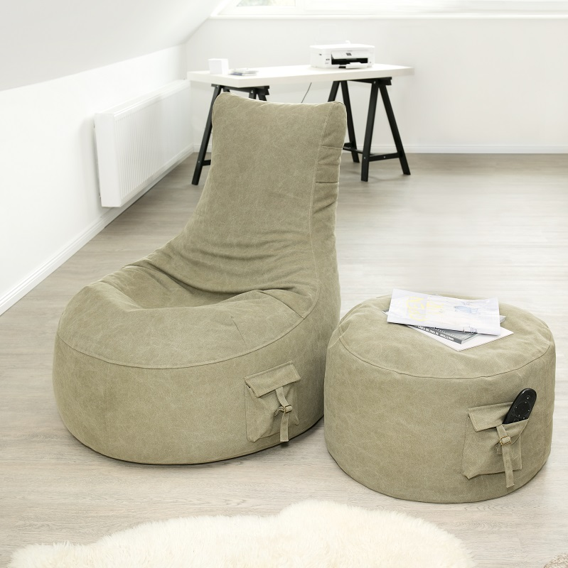 canvas loungesessel outbag lounger relaxsessel stonewashed. Black Bedroom Furniture Sets. Home Design Ideas