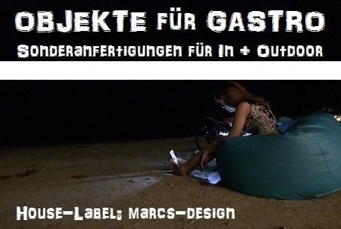 Gastro-Artikel, Gastronomie-Sitzsäcke, Profi-Sitzobjekte vom House-Label: marcs-design