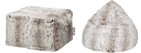 Winterfelle & Fellimitationen in Kombination mit Sitzsäcken, Hockern und Sitzbällen